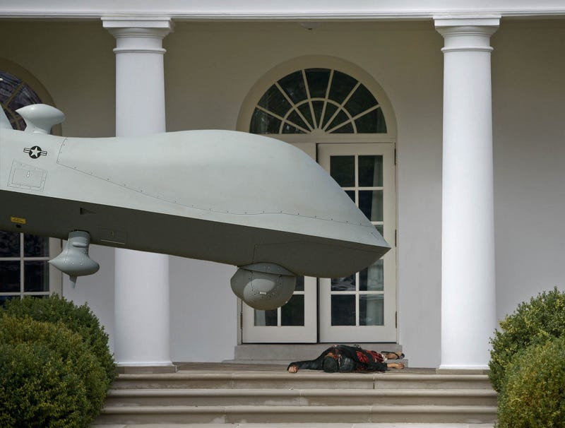 Illustration for article titled Drone Places Fresh Kill On Steps Of White House