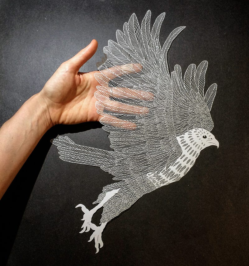 Amazing drawings are actually made of insanely complex cut paper