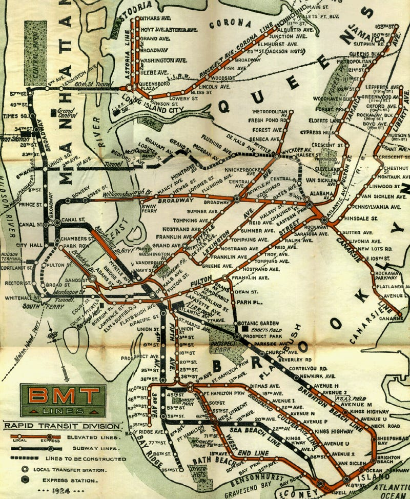 Old Nyc Subway Map