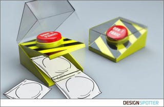 """Illustration for article titled Condom Dispensing """"Don't Panic"""" Button For Emergencies"""