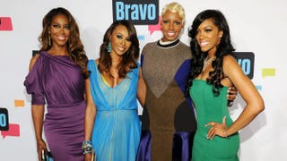 The cast of The Real Housewives of Atlanta attend the 2013 Bravo New York Upfront at Pillars 37 Studios in New York City, April 3, 2013.Craig Barritt/Getty Images