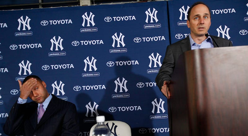 Illustration for article titled Derek Jeter Got Mad At The Yankees Because They Thought Troy Tulowitzki Was Better