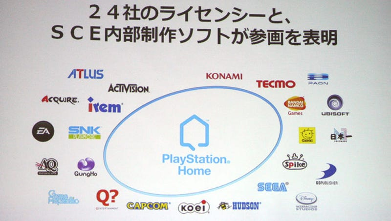 Illustration for article titled Only These Publishers May Work On The PS3's Home