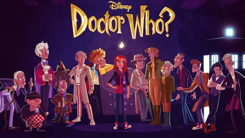 Illustration for article titled Artist reimagines Doctor Who as a Disney movie