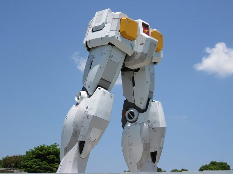 Illustration for article titled Ever Wanted To See What A Life-Sized Gundam Crotch Looks Like?