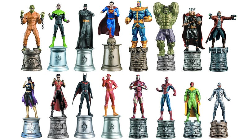 Illustration for article titled The Marvel vs. DC Debate Finally Ends With These Comic Book Chess Pieces