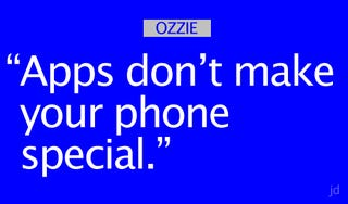 """Illustration for article titled Microsoft's Ray Ozzie: """"Apps Don't Make Your Phone Special"""""""