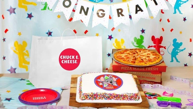 Chuck E. Cheese bets people will pay $120 for 3 mediocre pizzas and a cake
