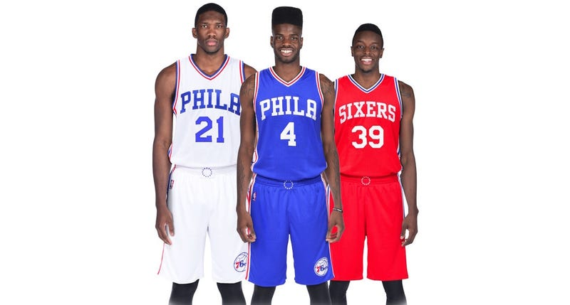 Illustration for article titled Sixers Unveil New Uniforms, And They're Sharp