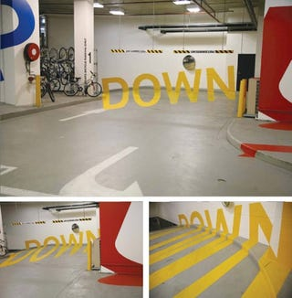 Illustration for article titled When You're Not In Your Car The Stereoscopic Parking Garage Will Freak You Out