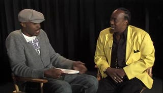 Wood Harris, who played Avon Barksdale in The Wire, interviews Nathan Barksdale.YouTube screenshot