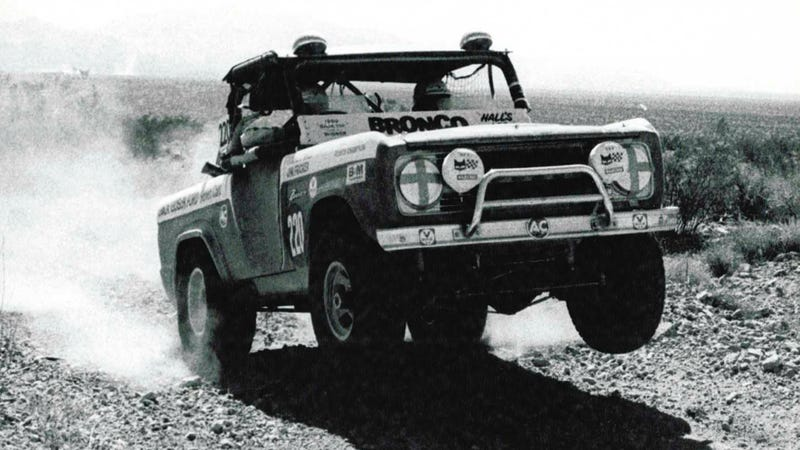 Illustration for article titled This Classic Ford Bronco Was Pulled Out Of A Junkyard To Race Baja Again
