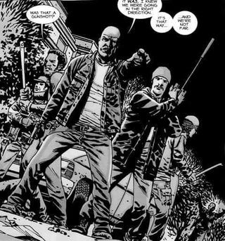 """Illustration for article titled TWD: S6E2: """"JSS"""" — I wonder what that means..."""