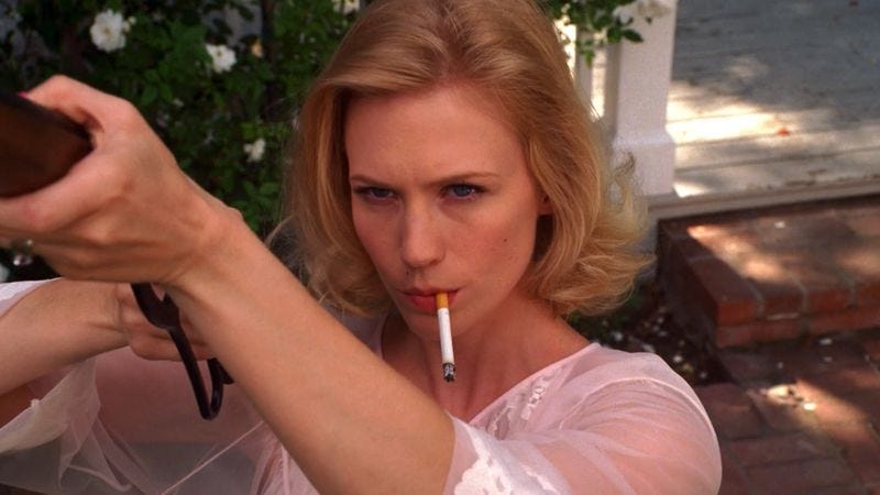 Image result for betty draper gun