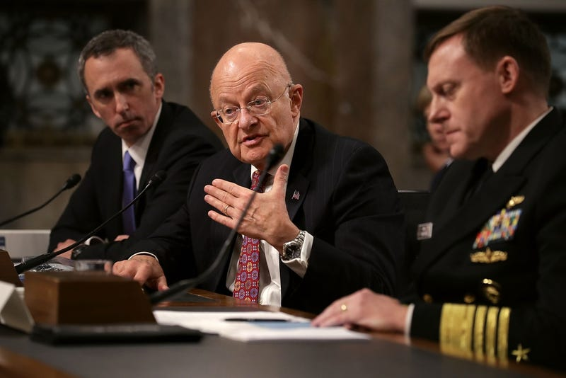 Director of National Intelligence James Clapper testifies before the Senate Armed Services Committee today about Russian involvement in the 2016 Presidential election (Photo by Chip Somodevilla/Getty Images)