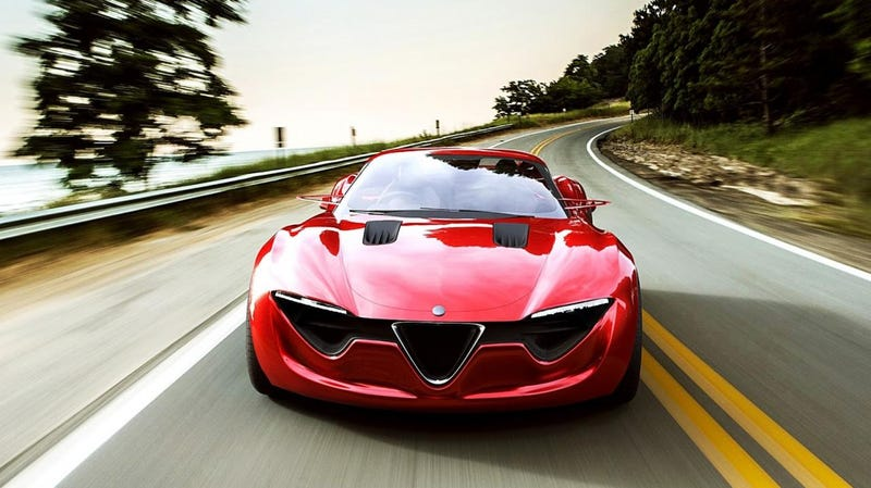 Illustration for article titled WHO KNEW ABOUT THIS????  (Alfa 6C Concept)