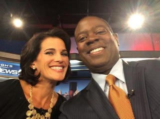 Wendy Bell and co-anchor Andrew Stockey on Aug. 1, 2014Andrew Stockey via Twitter