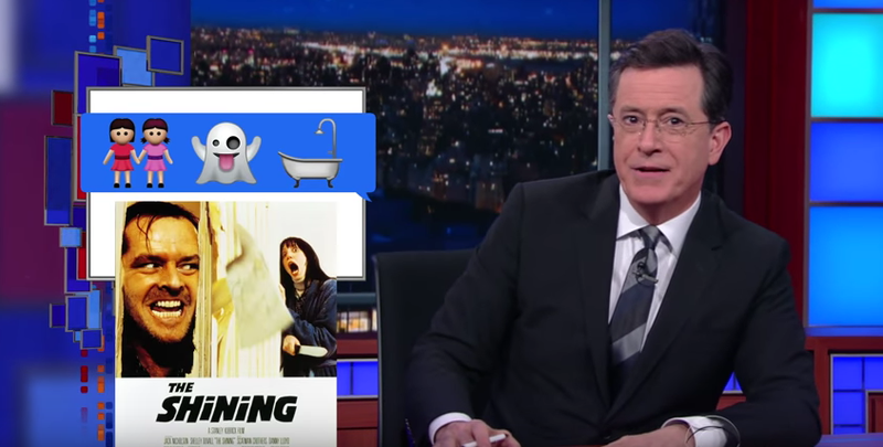 Illustration for article titled Stephen Colbert Imagines How We CouldRemake Movies With Emoji