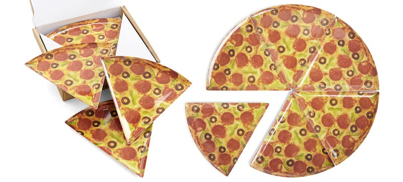 Illustration for article titled Pizza Slice Pizza Plates Are a Classier Way To Serve Pizza Pie