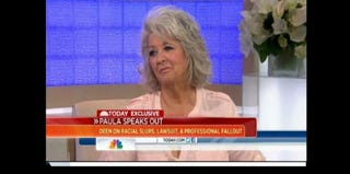 Paula Deen during her Wednesday Today show interview