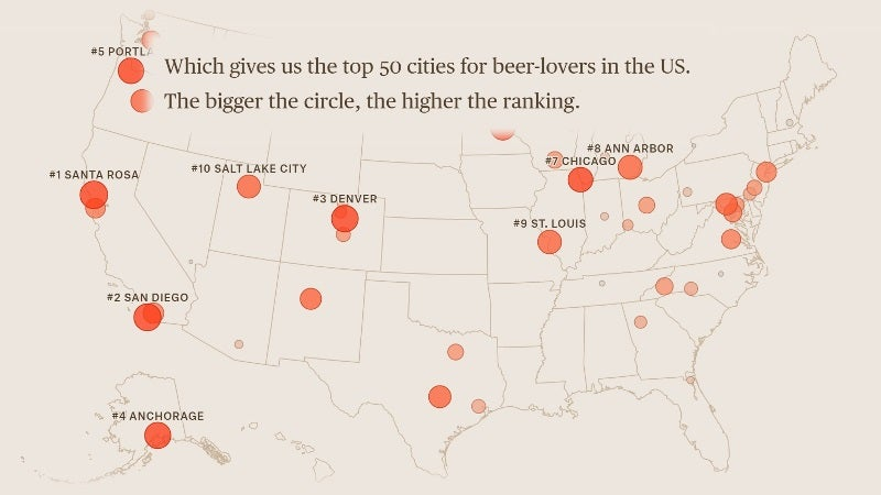 Find the Best Nearby Cities for Craft Beer and Microbrews With This Tool