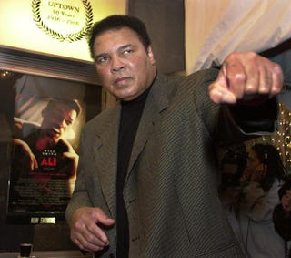 Former heavyweight boxing champ Muhammad Ali, Dec. 17, 2001MIKE THEILER/AFP/Getty Images