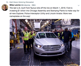 Today, The Last American Ford Taurus Was Built