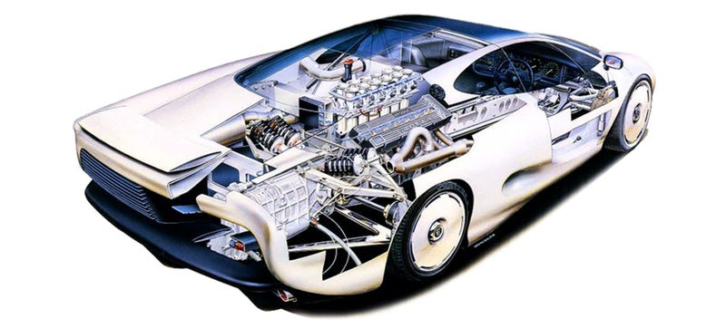 Illustration for article titled Why The Legendary Jaguar XJ220 Was A Disappointment