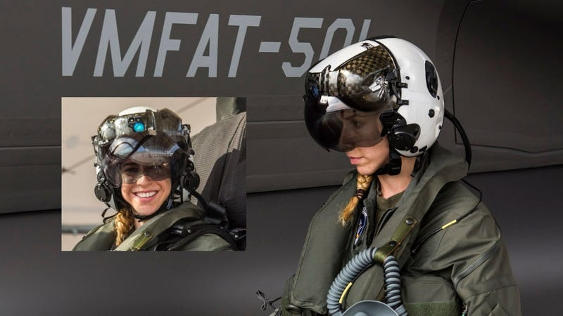 Illustration for article titled USMC: First Woman F-35B Pilot