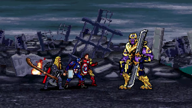 Watch Avengers: Endgame's final battle sequence in glorious 16-bit animation