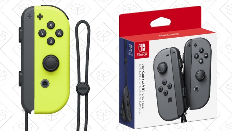Nintendo Switch Joy-Con Gray, $64 with code FLASH20Nintendo Switch Joy-Con Neon Yellow, $64 with code FLASH20