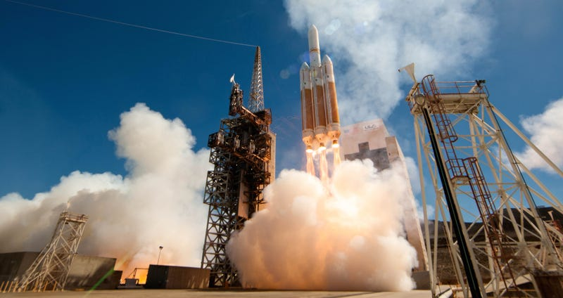 An earlier Delta IV Heavy launch by the NRO, delivering...something? (Image: ULA)