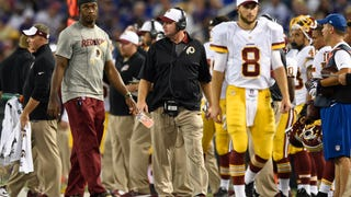 We were all expecting Kirk Cousins to be named Washington's Week 1 starter, because there's no guarantee Robert Griffin III will pass his concussion tests by then. But coach Jay Gruden made the announcement today: Cousins is the man for 2015, and it has absolutely nothing to do with Griffin's health.
