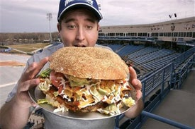 Illustration for article titled Giant Burger Of Doom Now Comes With A Side Of Controversy