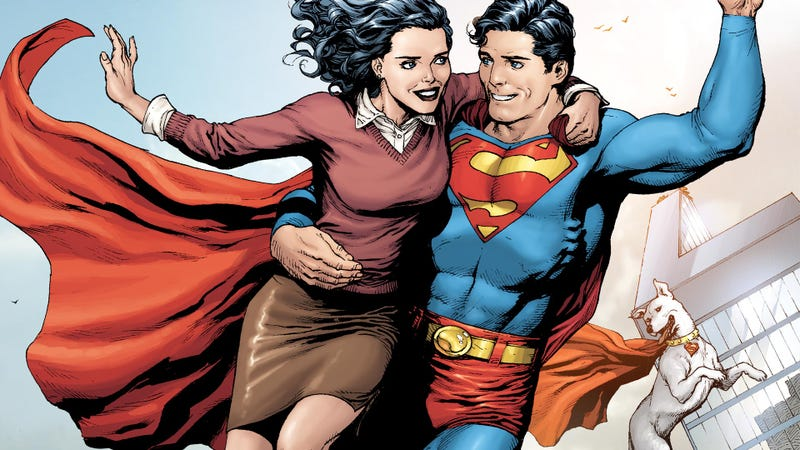 Lois Lane and Superman.