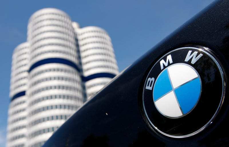 The BMW logo outside the company's headquarters in Munich. Image: AP