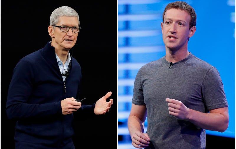 Tim Cook y Mark Zuckerberg.