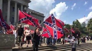 KKK rally Saturday at South Carolina StatehouseAOL Screenshot