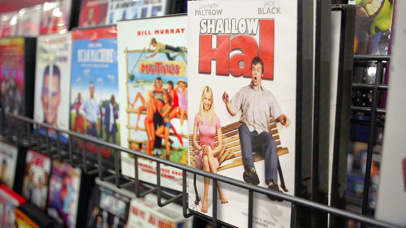 Illustration for article titled Market In Chaos: The Sudden Addition Of 3 Pristine Copies Of 'Shallow Hal' To This Thrift Store Has Tanked The Value Of The Store's Other 2 Copies Of 'Shallow Hal'