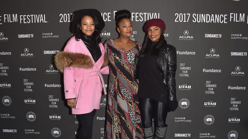 (L-R) Actress Chante Adams, Roxanne Shante and Actress Nia Long attend the Roxanne Roxanne' Premiere on day 4 of the 2017 Sundance Film Festival on January 22, 2017 in Park City, Utah.