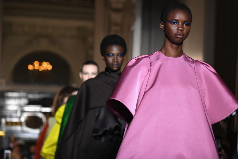 638965cc37fe0 Models walk the runway during the Valentino Haute Couture Fall Winter  2018/2019 on July