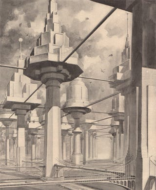 Illustration for article titled Imagining a City of Treelike Buildings