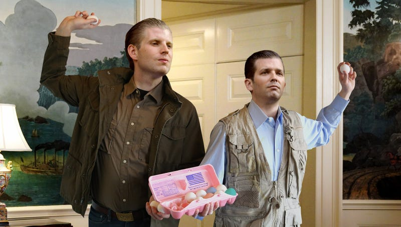 Illustration for article titled Trump Boys Announce They Will Not Hesitate To Egg Russia If Provoked