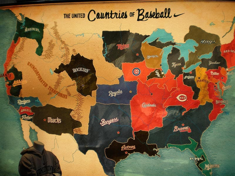 Illustration for article titled The Only Baseball Map You'll Ever Need