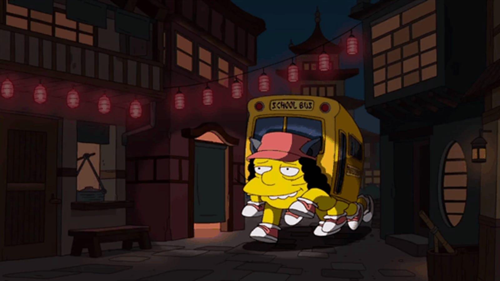 Los Simpson rinden tributo al maestro de animación Hayao Miyazaki