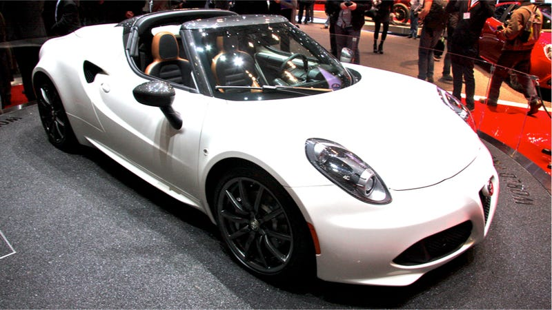 the alfa romeo 4c spider comes with traditional headlamps and no roof. Black Bedroom Furniture Sets. Home Design Ideas