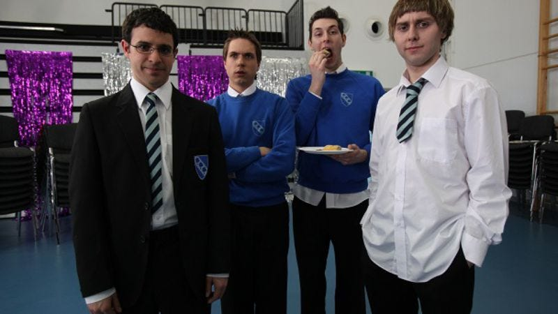 """Illustration for article titled The Inbetweeners: """"Trip To Warwick"""""""