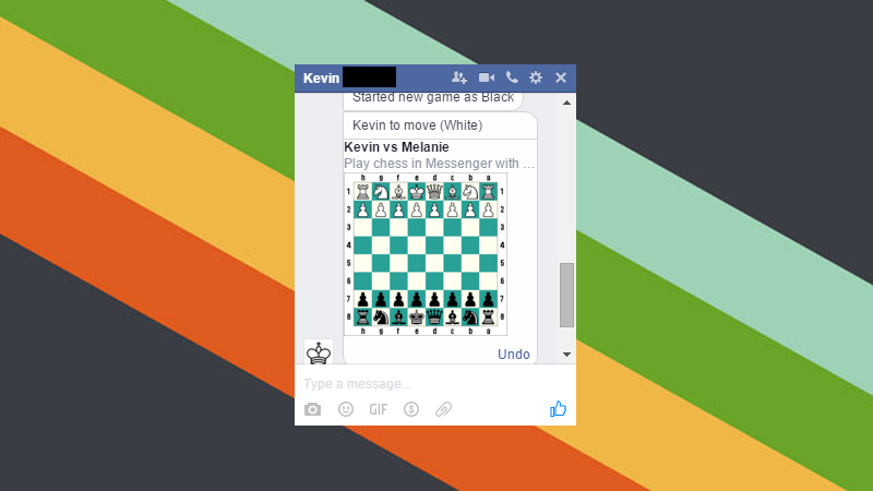 Illustration for article titled Unlock Facebook Messenger's Hidden Chess Game
