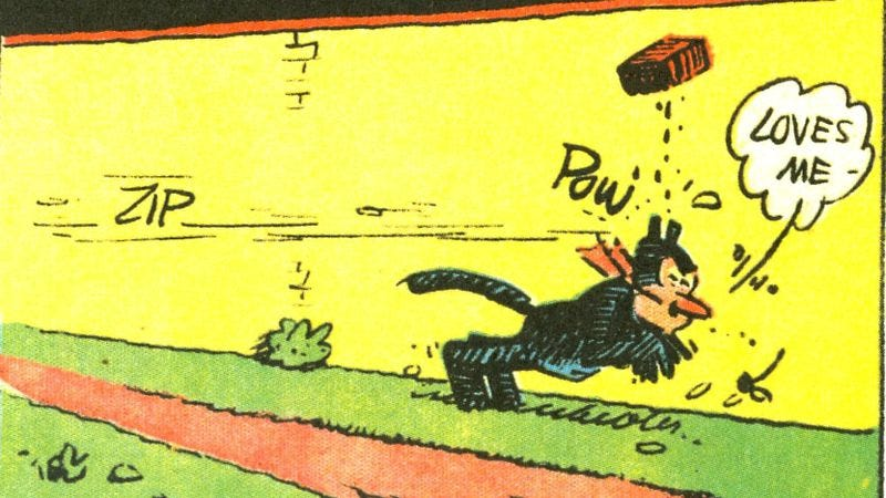 Illustration for article titled A century ago, Krazy Kat was a comics-page masterpiece