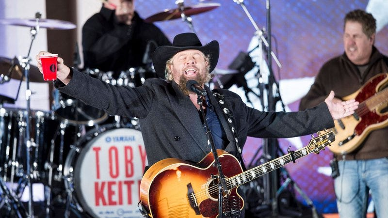 Toby Keith performs at Donald Trump's pre-inauguration party. Photo: Brendan Smialowski/Getty